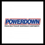 Powerdown suspension truck, bus and trailer suspension components